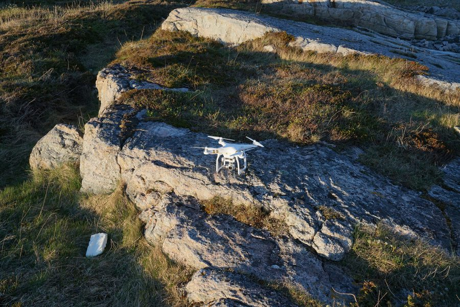DJI Phantom 3 am Boden