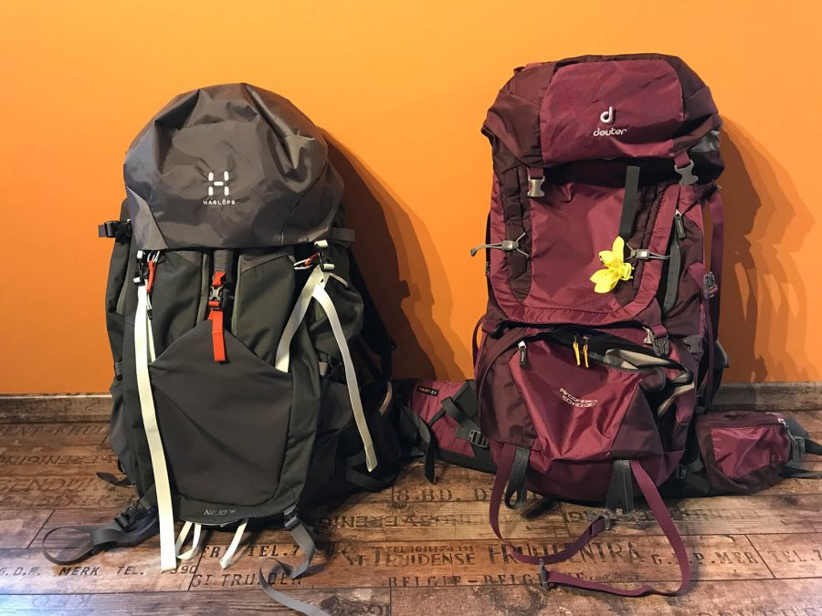 Backpacks Zuhause