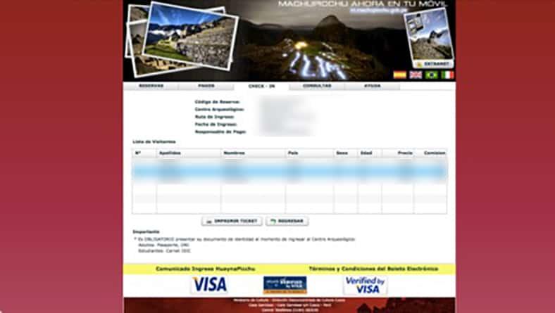 Tickets für den Machu Picchu - Schritt 10