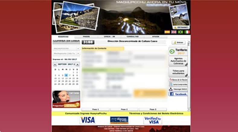 Tickets für den Machu Picchu - Schritt 4