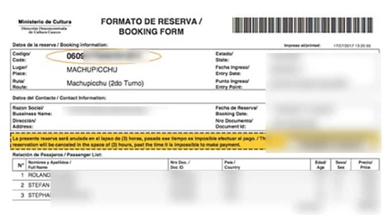 Tickets für den Machu Picchu - Schritt 5