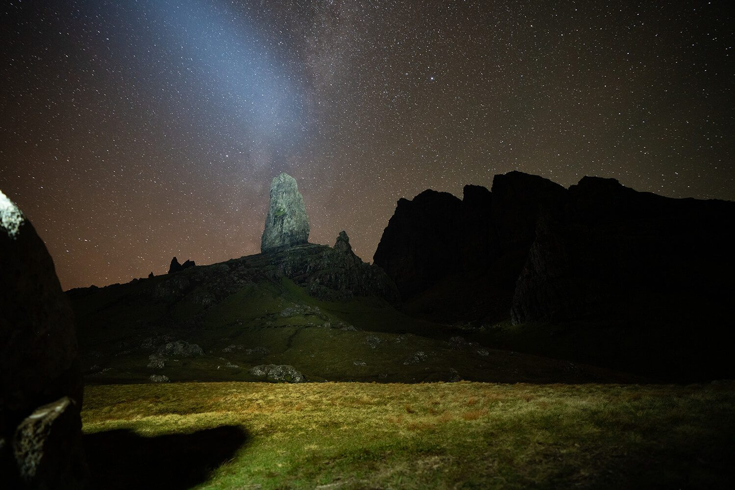 Old Man of Storr by night