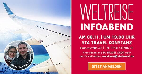 Weltreise Infoabend STA Travel