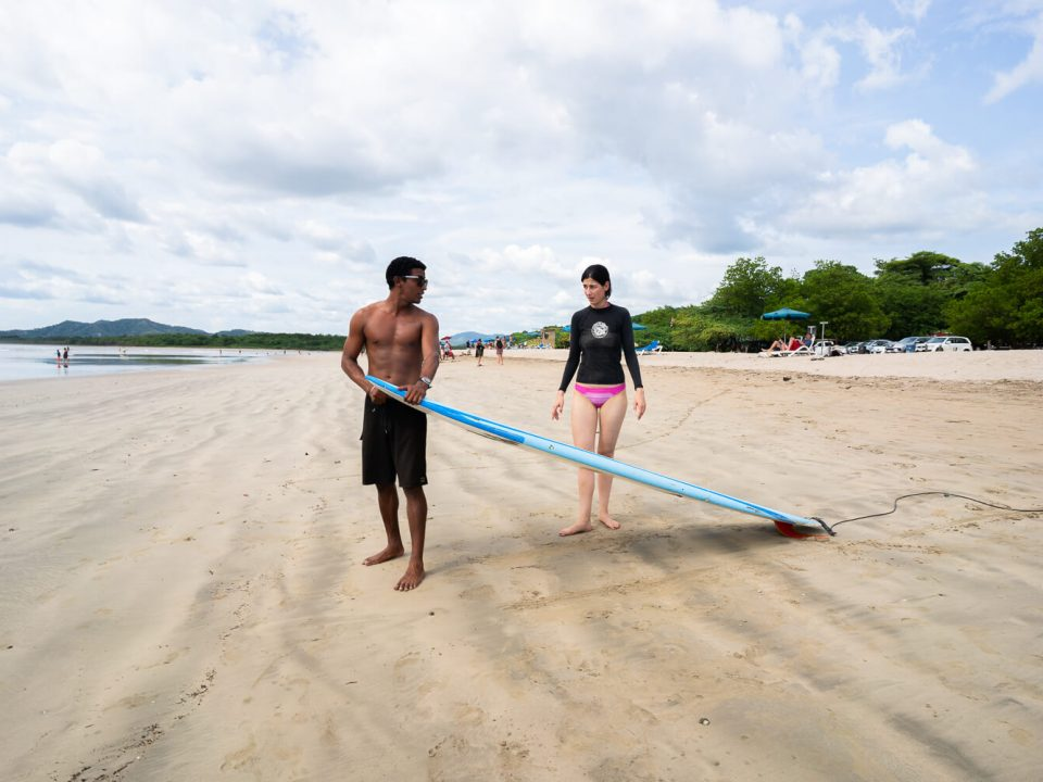 Surflektion in Tamarindo