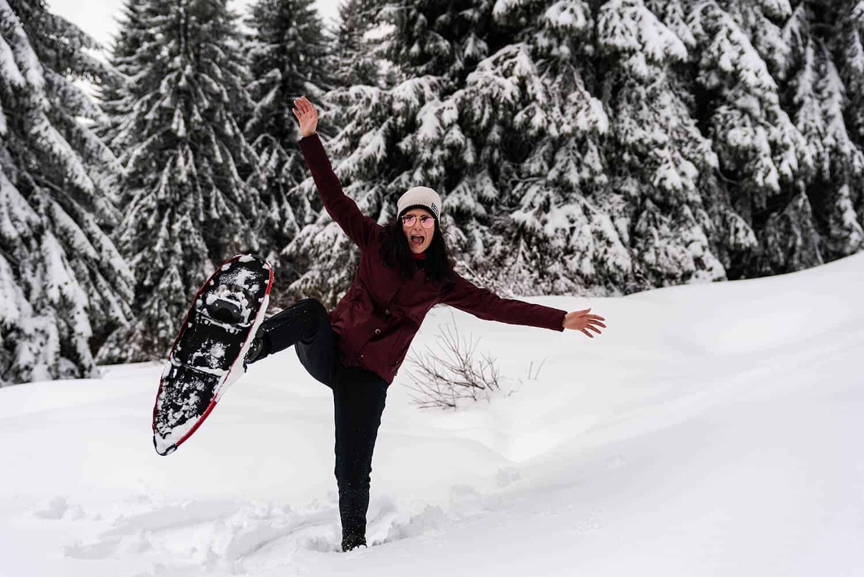 Schneeschuh-Spass im Schwarzwald