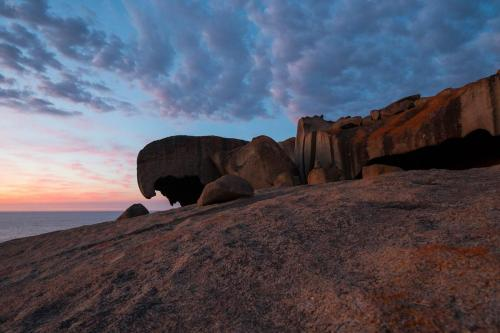 Remarkable Rocks in der Morgendämmerung