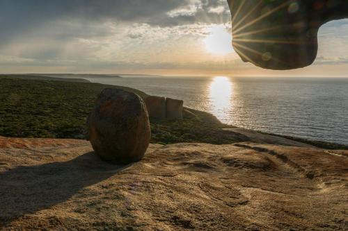 Remarkable Rocks Sonne bei Sonnenaufgang