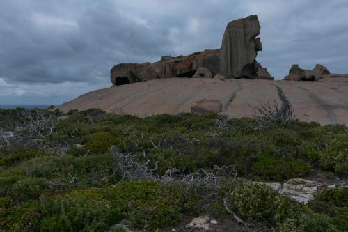 Remarkable Rocks grauer Tag