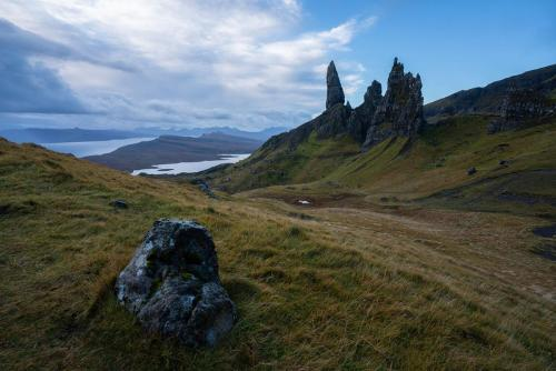 Old Man of Storr and Clouds